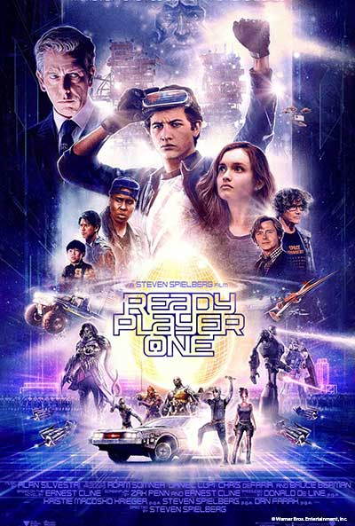 Event flyer for Sugar Creek Movie Mania Presents: Ready Player One