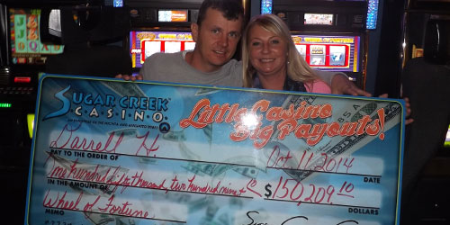 Sugar Creek Casino Sweet Jackpot Winners