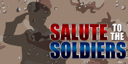 Event flyer for Salute to the Soldiers